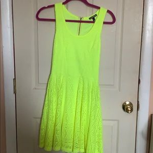 Neon Yellow Express Dress